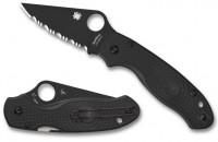 Складной нож Spyderco Para 3, Black FRN Handle, CTS-BD1, Black Blade, Full Serrated - Интернет магазин Японских кухонных туристических ножей Vip Horeca