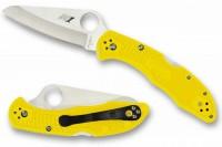 Складной нож Spyderco Salt 2, Yellow FRN Handle, H1 Steel, Plain - Интернет магазин Японских кухонных туристических ножей Vip Horeca