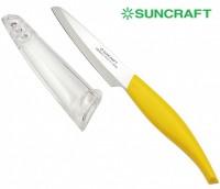 Кухонный нож Suncraft Petty 95mm (желтый) - Интернет магазин Японских кухонных туристических ножей Vip Horeca