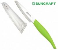 Кухонный нож Suncraft Petty 95mm (зеленый) - Интернет магазин Японских кухонных туристических ножей Vip Horeca