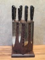 Настольный поворотный магнитный держатель для ножей MDG (венге) - Интернет магазин Японских кухонных туристических ножей Vip Horeca