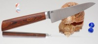 Дамир Сафаров. Кухонный нож серии М390,  Железное дерево, Коренчатый 130мм (ver 2.0) - Интернет магазин Японских кухонных туристических ножей Vip Horeca