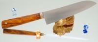 Дамир Сафаров. Кухонный нож серии М390, Железное дерево, Santoku 170mm (ver 1.0) - Интернет магазин Японских кухонных туристических ножей Vip Horeca