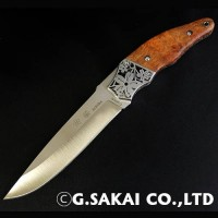 Туристический нож G.Sakai, Sakura 2 Fixed / VG-10, karin-kobu - Интернет магазин Японских кухонных туристических ножей Vip Horeca
