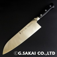 Кухонный нож G.Sakai ATS-34 Santoku 180mm