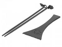 Набор чугунный IWACHU для костра: лопатка  с зубчиками  и палочки с подвесками - Интернет магазин Японских кухонных туристических ножей Vip Horeca