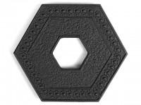 Чугунная подставка IWACHU под чайник 9,5х11см. (шестиугольник, черный) - Интернет магазин Японских кухонных туристических ножей Vip Horeca