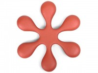 Чугунная подставка IWACHU под чайник 15см. (цветок, красный) - Интернет магазин Японских кухонных туристических ножей Vip Horeca