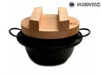 Чугунная рисоварка IWACHU 18см с деревянной крышкой - подставкой, индукция - Интернет магазин Японских кухонных туристических ножей Vip Horeca