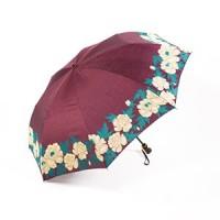 Зонт Maehara, серия Button-TU, Flowers/Maroon - Интернет магазин Японских кухонных туристических ножей Vip Horeca