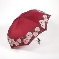 Зонт Maehara, серия Button-TU, Flowers/Red - Интернет магазин Японских кухонных туристических ножей Vip Horeca