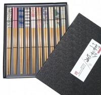 Набор японских палочек (хаси), 10 шт., подарочная картонная коробка - Интернет магазин Японских кухонных туристических ножей Vip Horeca
