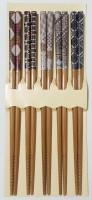 Набор японских палочек (хаси), 5 шт., узор - Интернет магазин Японских кухонных туристических ножей Vip Horeca