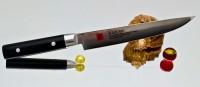 Кухонный нож Kasumi Damasc Carving 200mm - Интернет магазин Японских кухонных туристических ножей Vip Horeca
