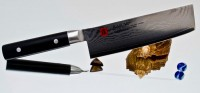 Кухонный нож Kasumi Damasc Nakiri 170mm - Интернет магазин Японских кухонных туристических ножей Vip Horeca