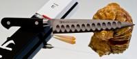 Кухонный нож Misono Molibden Steel с проточкой Petty 150mm - Интернет магазин Японских кухонных туристических ножей Vip Horeca