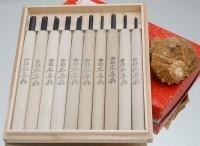 Набор резцов по дереву Hon Koshihide (10 предм.) - Интернет магазин Японских кухонных туристических ножей Vip Horeca