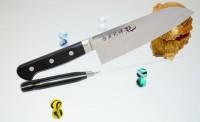Кухонный нож RYUSEN Blazen Santoku 170mm - Интернет магазин Японских кухонных туристических ножей Vip Horeca