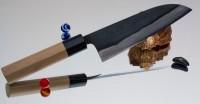 Кухонный нож Shigefusa Santoku 165mm (Kurouchi) - Интернет магазин Японских кухонных туристических ножей Vip Horeca