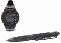 Тактическая ручка и часы UZI (комплект), Black - Интернет магазин Японских кухонных туристических ножей Vip Horeca